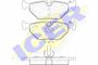 Zestaw klocków hamulcowych, hamulce tarczowe ICER 181707